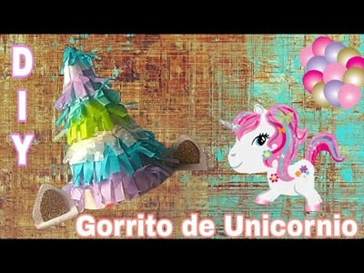 GORRITO de UNICORNIO para fiesta | UNICORN party HAT | Nennis Bows