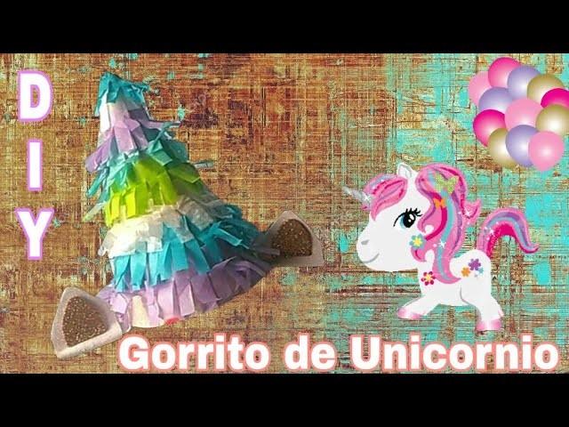 GORRITO de UNICORNIO para fiesta   UNICORN party HAT   Nennis Bows