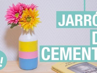 Jarrón de cemento · Handfie DIY