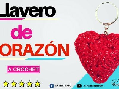 Llavero de Corazón a Crochet por San Valentín | Tejidos a Crochet por el día del amor