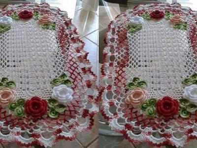 Mantel de Flores  Tejidos a Crochet