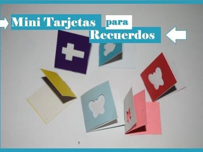 Mini Tarjeta para Recuerdo - Express Craft - Tutorial - DIY -AnabelMonGar