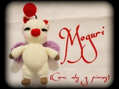 Moguri (cara, alas, y piernas)    Crochet o ganchillo.