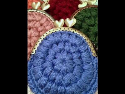 Monedero Tejido en crochet o ganchillo diseño moderno