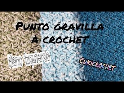 PARA ZURD@S. 24 PUNTO GRAVILLA A CROCHET. GANCHILLO. PASO A PASO GRATIS. IDEAL PRINCIPIANTES.