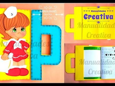 Porta Carpeta Escolar fácil paso a paso- Craft DIY manualidad Escuela en foamy.goma eva.microporoso