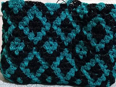 Practicando Bolso Tejido A Crochet