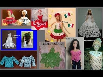 Ropita para barbie ( tejidos variados de mis amigas)