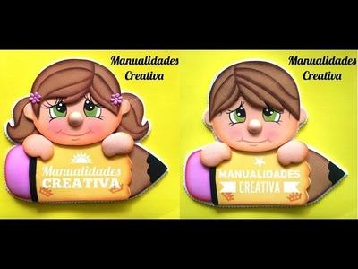 Solapines - Gafete paso a paso - Craft DIY manualidad escuela en foamy.goma eva.microporoso
