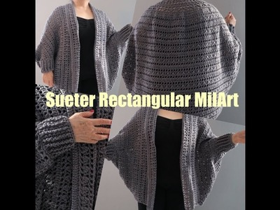 Sueter Rectangular Crochet