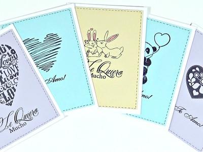 Tarjetas Rápidas y Fáciles para San Valentin | Cardmaking