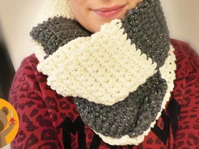 Tejer un chal de invierno en Myboshi lana brillante|Muy facil y super suave