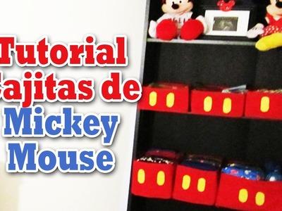 Tutorial Cajitas de Mickey Mouse (Decoración del cuarto) - Los290ss