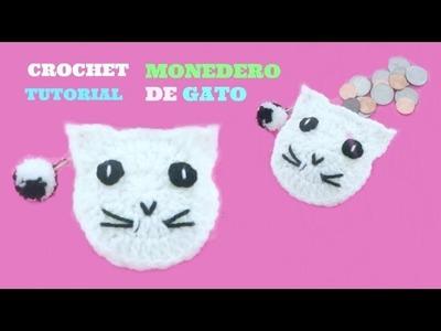 TUTORIAL CROCHET | MONEDERO DE GATO A CROCHET MUY FÁCIL Y BONITO ♥ monedero tejido paso a paso
