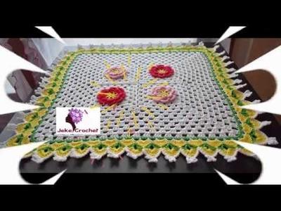 Uniendo Granny Squares sin cortar el hilo | Tapete a crochet ???? | Jeke Crochet | Parte 2