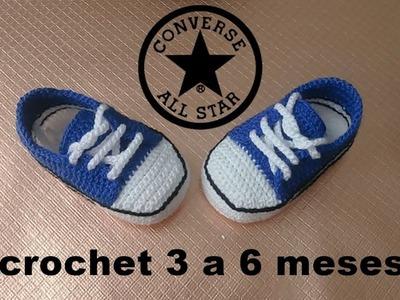Zapatitos ALL-STAR a crochet