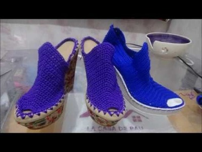 Zapatos tejidos a crochet MUY FÁCIL