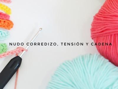 02  NUDO CORREDIZO, TENSION Y CADENA EN GANCHILLO  CURSO DE GANCHILLO BLUE BUBALU