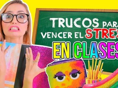 5 RAROS TRUCOS para SOBREVIVIR al STRESS en CLASE!! ✏️???? DIY! ✂️ | Katie Angel