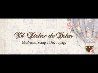 """Album Scrapbooking """"El Atelier de la abuela""""- Encuadernación en espina"""