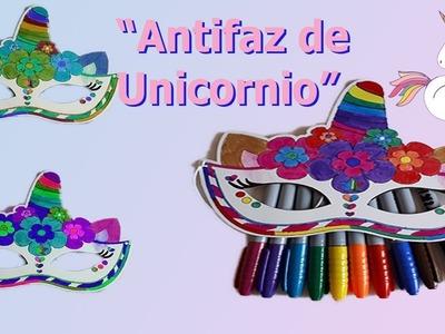 "Antifaz de Unicornio para fiestas infantiles ???? #DIY ""PLANTILLA DESCARGABLE"""