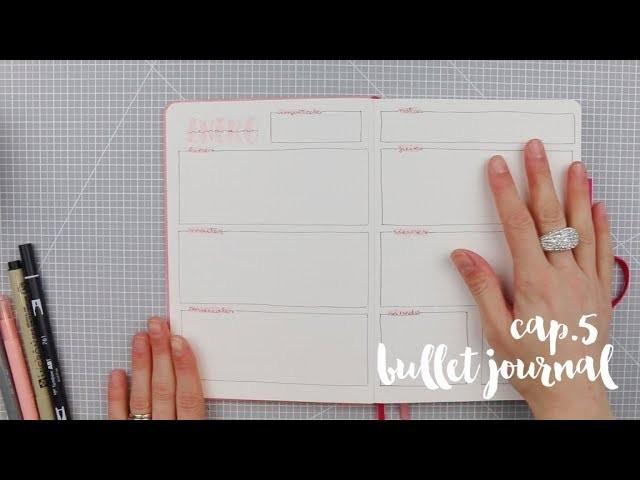 Bullet journal primeros pasos cap. 5: Semana vista. TUTORIAL SCRAPBOOKING