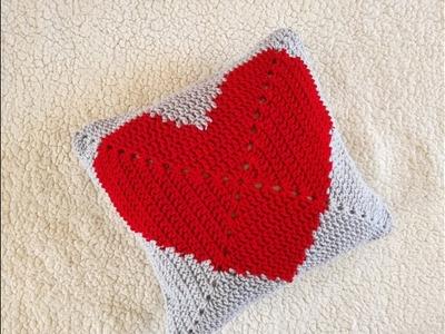 COJIN CORAZON ❤ Tejido a Crochet