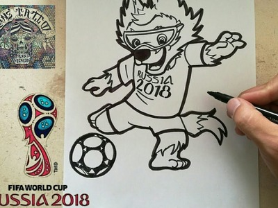 COMO DIBUJAR A ZABIVAKA -RUSSIA 2018. how to draw zabivaka - russia 2018