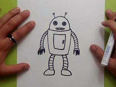 Como dibujar un robot paso a paso 8   How to draw a robot 8