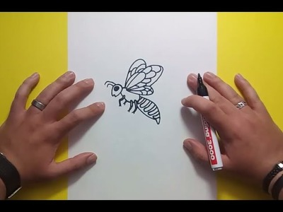 Como dibujar una abeja paso a paso 2 | How to draw a bee 2
