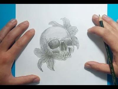 Como dibujar una calavera a lapiz | How to draw a skull in pencil