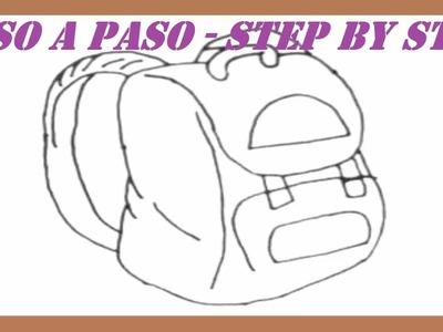 Como dibujar una Mochila paso a paso l How to draw a Backpack step by step