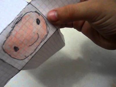 Como hacer a Fin el Humano de papel|pabloolivera olivera