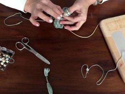 Como hacer borlas o flecos de hilo