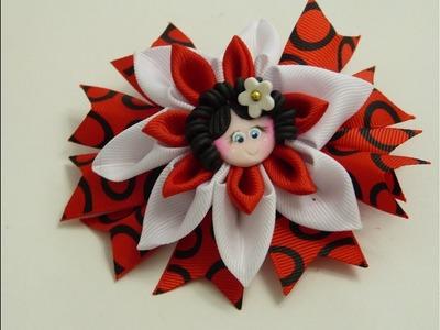 COMO HACER FLOR CON CINTAS, Moños con cintas,How to Make Bows and Flowers