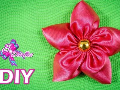 Como hacer flores: Flores de Tela # 8   Video# 87   SDetalles   DIY