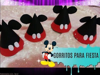 COMO HACER GORRITOS PARA FIESTA❤. MICKEY MOUSE ❤.