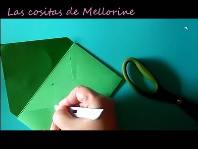 "Cómo hacer sobres con la tabla ""Card and envelope maker"" de Scrap Collection  - Tutorial"