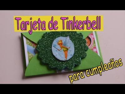 Como Hacer Tarjetas de Cumpleaños | Fáciles y Bonitas(Tinkerbell)