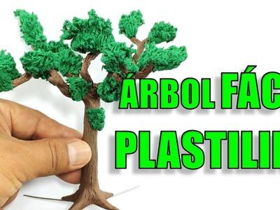 ✅ COMO HACER UN ARBOL DE PLASTILINA. HOW TO MAKE A CLAY TREE  ✅ MI MUNDO DE PLASTILINA