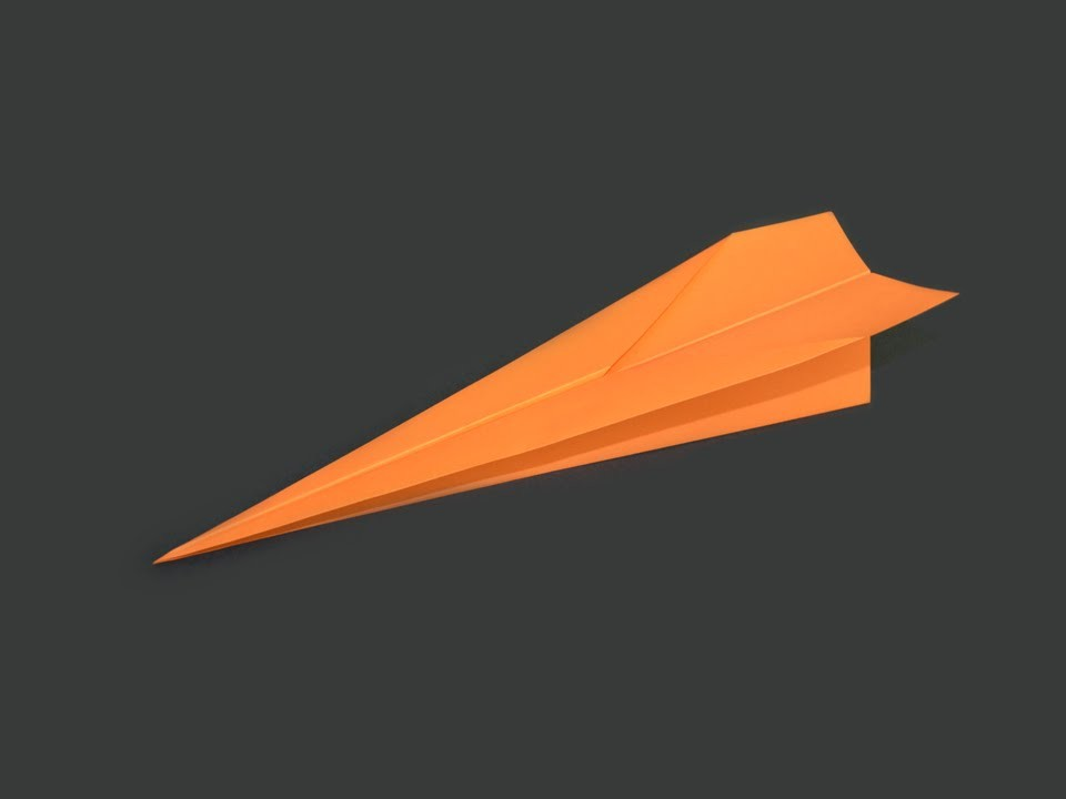 Como hacer un Avion de Papel que Vuela Mucho - Aviones de Papel - Origami Avión
