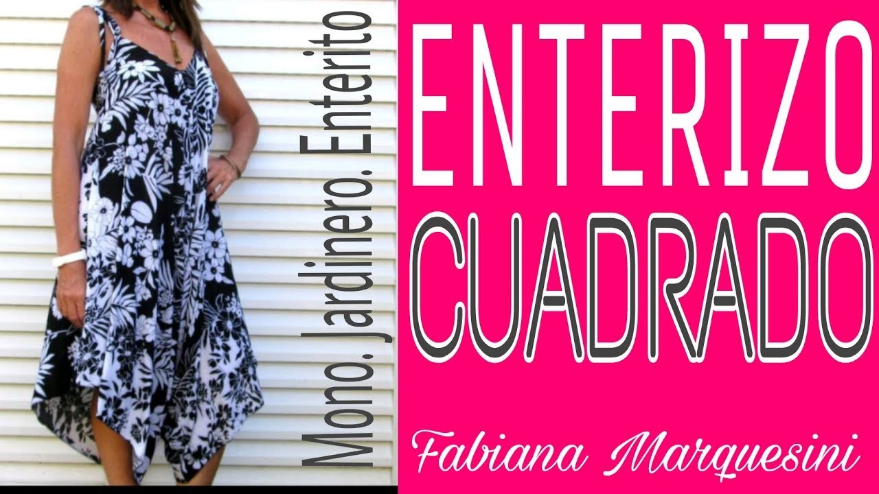 Cómo hacer un ENTERIZO CUADRADO - Fabiana Marquesini - 34