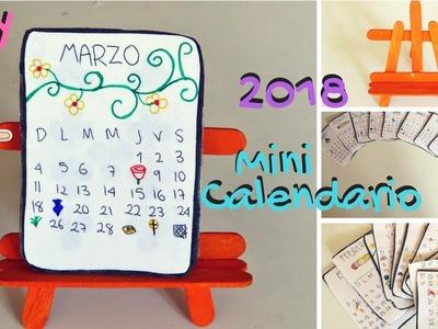 Como hacer un Mini Calendario de escritorio | 2018 | Fácil DIY