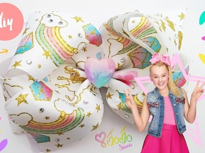 Como hacer un moño  JOJO SIWA. How to make a JOJO SIWA style hair bow