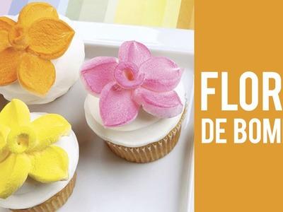 Cómo hacer una flor de bombón para un Cupcake