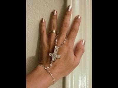 Como hacer una pulsera con anillo