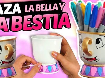 Cómo hacer una taza de la bella y la bestia ????☕