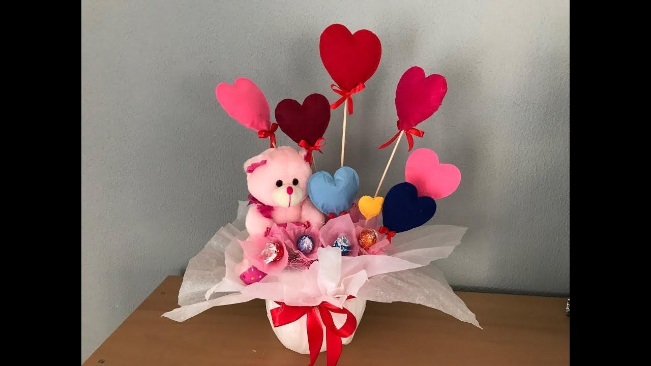 Composición para san Valentín con chocolates-Composition for valentines with chocolates