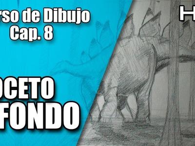 Curso de Dibujo a Lápiz Completo: El Boceto y Fondo a Lápiz Paso a Paso Cap. 8