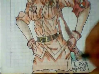 Dibujando a Seras Victoria (Chica policia) de Hellsing
